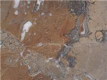 Noisette Fleury Tiles Red Marble Slab