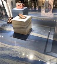 Quartzite Stone Azul Imperial Macaubas Slab