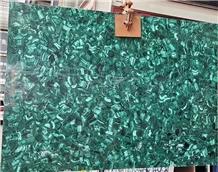 Semiprecious Stone Gemstone Agate Malachite Slab
