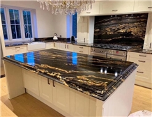 Stone Slabs Kitchen Black Granite Countertop
