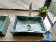 China Green Marble Sink, Marble Basin