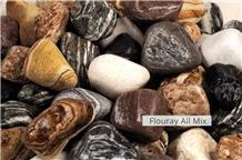 Multicolor Tumbled Pebble Stones,Flouray All Mix River Pebbles