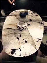 Brazil Pandora White Marble Polished Table Top