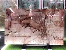 Brazil Pink Quartzite Polished Big Slabs & Tiles