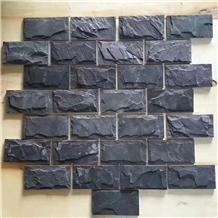 China Black Slate Split Culture Stone Wall Tile