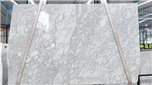 Italy Medium White Marble Polished Big Slabs