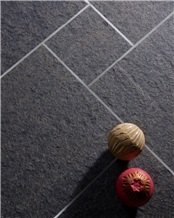 Black Basalt Flamed Floor Tiles