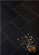 Black Basalt Honed Flooring Tiles
