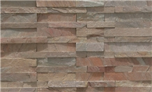 Copper Slate Riven Natural Stone Wall Panel