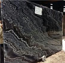 Mercury Black Marble Tiles & Slabs