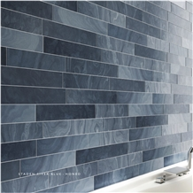 Staden Silver Blue Slate Honed Natural Stone Wall Panel Ledge Stone