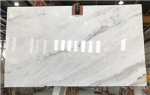 China New White Marble Slabs Tiles Bianco Oro