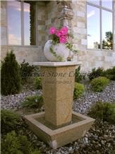 Tolken Fountain Giallo Fantasia Granite