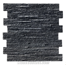 Waterfall Black 2021 Ledge Stone Wall Cladding