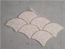 Light Dark Emperor Marble Fans Mosaic Sheet