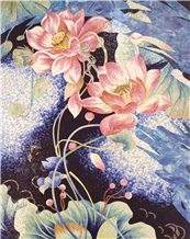 Pink Lotus Medallions,Scissors Painting for Wall