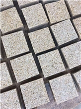 G682 Yellow Rust Granite Brick Cube Stone Paver
