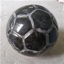 Black Granite Stone Ball in Football Shape