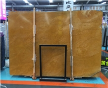 China Golden Cassia Marble Slabs 18mm Thk Polished