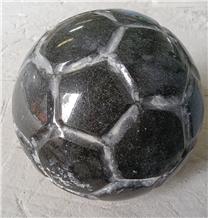 Stone Ball, Black Granite Ball, Garden Decor Ball