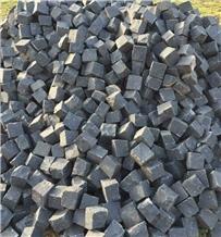 Fine Basalt Cobblestone, Pavers, Patio Pattern