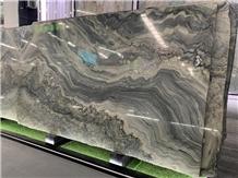 Brazil Blue Green Fusion Quartzite Slabs