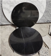 Nero Marquina Black Marble Stone Table Top