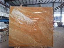 China Luxury Yellow Golden Rosin Jade Onyx Slabs