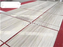 Striato Argento, White Wood Polished Marble Tiles