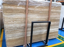 Turkey Sivas Golden Trevertine Slabs Applications