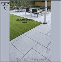 Persian Silver Granite Patio Pavement, Walkway Pavers