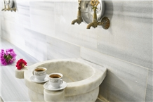 Afyon Sugar Marble Turkish Hammam Kurna- Basin