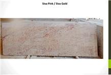 Siva Pink-Gold Granite Slabs