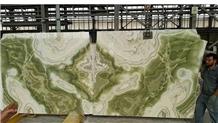 Green Flower Onyx Slabs