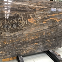 Andes Volcano Dark Brown Polished Marble