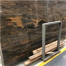Luxury Brown Stone Andes Volcano Marble Slab