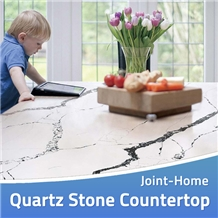 Calacatta Quartz Artificial Stone Desk Countertops
