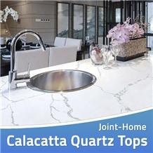 Calacatta Quartz Manmade Stone Desk Countertops
