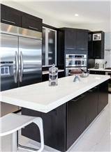 Calacatta White Quartz Stone Kitchen Countertops