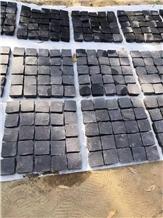 Cheap Black Cube Stone 10x10x5cm Driveway Pavers