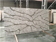 Cheap Calacatta Grey Quartz Stone Worktop Slabs