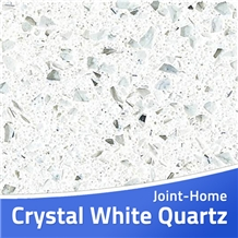 Crystal Sparkle White Artificial Stone Quartz Slab