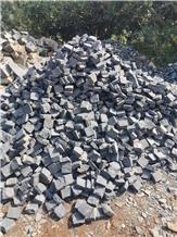 Good Price Black Cobblestone Cube Granite Pavers