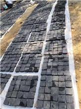 Hot Sale Black Granite Cube Cobble Stone Pavers