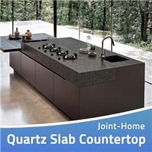 Noble Shining Crystal Dark Grey Quartz Countertops