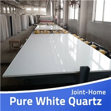 Pure White Engineered Manmade Stone Quartz Slabs