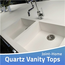 Quartz Countertop Vanity Sink Bathroom Prefab Tops
