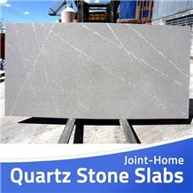 Tundra Silver Grey Calacatta Oro Quartz Tile Slabs