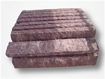 Porphyry Red, Dayang Red Porphyry Rosa Porfido Kerbstone Pineappled Saw Curbs