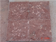 Porphyry Red, Dayang Red Porphyry Rosa Porfido Pineappled Tiles Kerbs